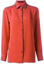 Etro velvet trim shirt - women - Silk - 40