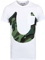 True Religion Camo Horseshoe White Short Sleeve T-shirt