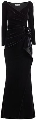 Chiara Boni Silveria Velvet Wrap Gown