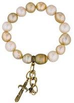 Loree Rodkin 18K Baroque Golden Pearl Bracelet