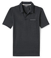 Lands' End Men's Short Sleeve Washed Jersey Stripe Polo Shirt-Tree Root Floral Print