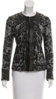 Roberto Cavalli Wool-Blend Leather Trimmed Jacket