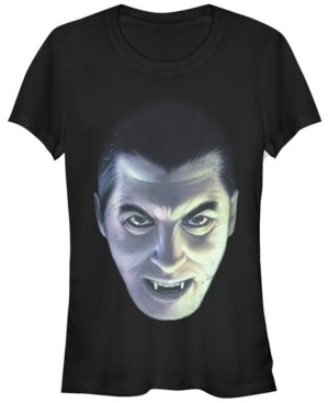 Fifth Sun Universal Monsters Women's Dracula Big Face Short Sleeve Tee Shirt