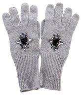 Kate Spade Embellished Woven Gloves