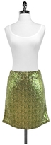 Pink Tartan Green & Gold Sequin Mini Skirt