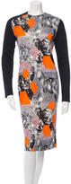 Peter Pilotto Silk Printed Dress