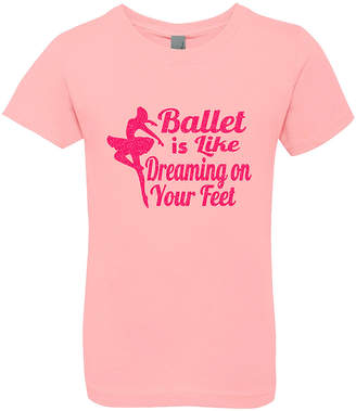 On Your Feet 3 Pearls Kids Girls' Tee Shirts PINK - Pink 'Ballet is Like Dreaming on Your Feet' Tee - Toddler & Girls