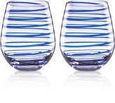 Kate Spade Charlotte Street Collection 2-Pc. Stemless Wine Glasses Set