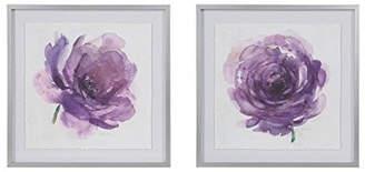 Madison Home USA Signature Purple Ladies Rose Frame Graphic 2 Piece Set