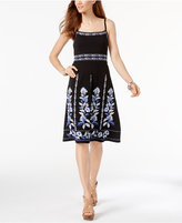 INC International Concepts Embroidered A-Line Dress, Created for Macy's