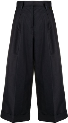 Twin-Set Cropped Wide-Leg Trousers