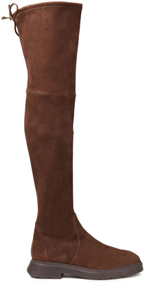 Stuart Weitzman Kristina Stretch-suede Thigh Boots