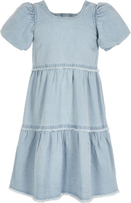 River Island Girls Blue denim smock dress