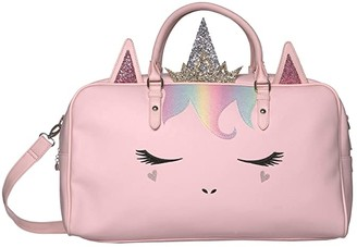 OMG Accessories OMG! Accessories Sugar Glitter Queen Unicorn Duffel Bag (Pink) Handbags