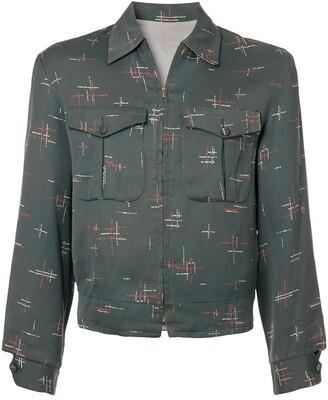 Fake Alpha Vintage patterned Rockabilly jacket