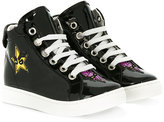DSQUARED2 patched hi-top sneakers