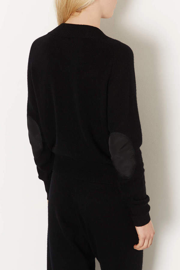 Topshop Knitted Cashmere Bomber Cardi