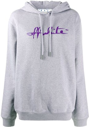 Off-White Script-logo relaxed-fit hoodie