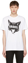 Diesel White T-Joe-QC Cat T-Shirt