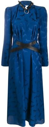 Stella McCartney Horse Jacquard Midi Dress
