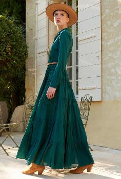 Mes Demoiselles Emerald Calam Dress - 36