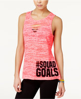 Material Girl Active Juniors' Cutout Graphic Tank Top, Only at Macy's