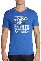 Original Penguin Blue Drinks Well with Others Graphic Tee