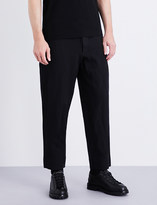 Comme des Garcons Straight regular-fit cropped gabardine trousers