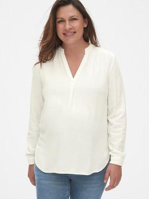 Gap Maternity Split-Neck Popover Shirt
