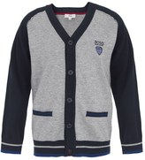 BOSS Navy and Grey Knit Cardigan