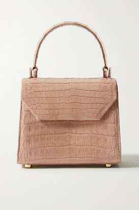 Nancy Gonzalez Lily Mini Crocodile Tote - Sand