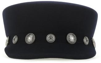 Maison Michel Abby Stud-Embellished Sailor Cap