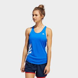adidas Women's Own The Run 3-Stripes PB Tank Top