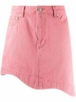 Thumbnail for your product : Ganni Asymmetric Denim Miniskirt