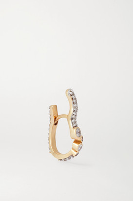 Maria Black Versaille Huggie Gold Diamond Earring - R