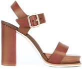 Tod's buckled sandals - women - Wood/Calf Leather/Leather/rubber - 40