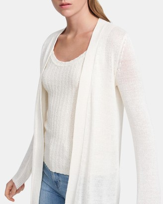 Theory Open Front Cardigan in Linen-Viscose