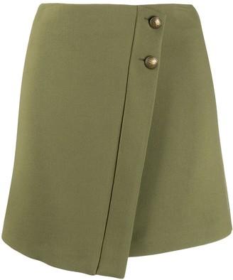 Patrizia Pepe Front Flap Mini Skirt