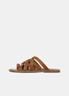 Vince Leather and Suede Piers Sandal