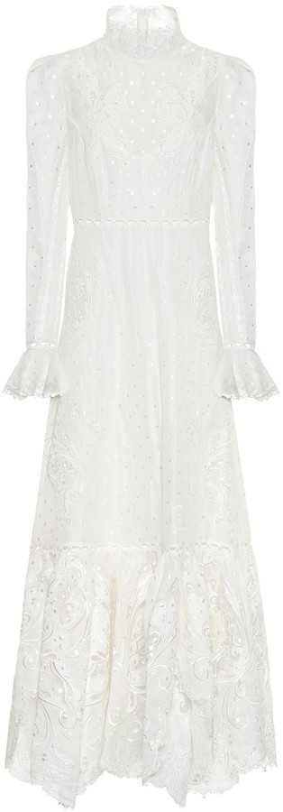 Zimmermann Super Eight linen and silk maxi dress