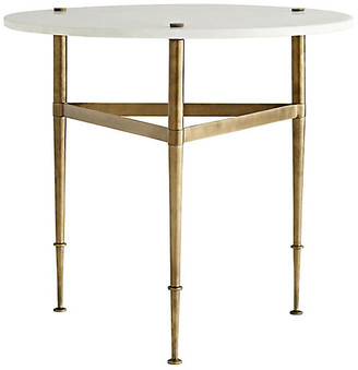 Arteriors Brittney Side Table - White Marble