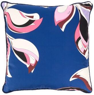Emilio Pucci Heliconia print cushion