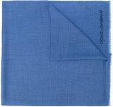Dolce & Gabbana embroidered logo scarf