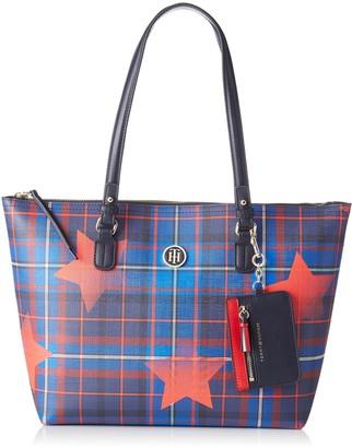 Tommy Hilfiger Love Med Rev Zip Tote Star Tartan Womens Top-Handle Bag