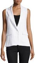 Alice + Olivia Lorelei Single-Button Vest, White