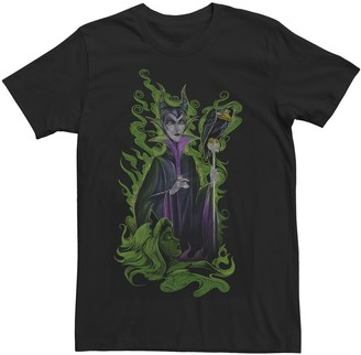 Disney Men's Sleeping Beauty Maleficent Green Envy Tee