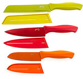 Fiesta Chef's Knives with Sheaths, Set of 3