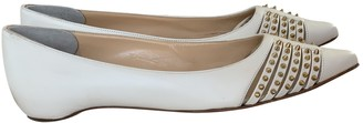 Christian Louboutin White Leather Ballet flats