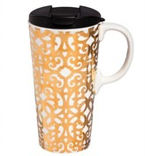 Evergreen Celestial Holiday Perfect Cup 17oz Ceramic Gold