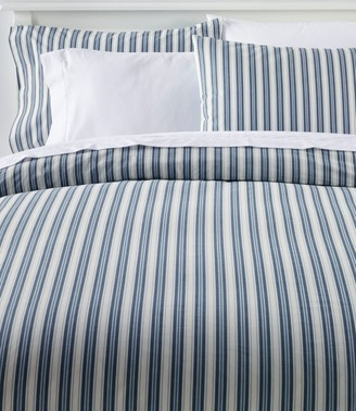 L.L. Bean Sunwashed Percale Comforter Cover, Stripe
